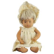 Beautiful Sasha Jointed Baby Doll w/ White Eyelet Dress & Bonnet