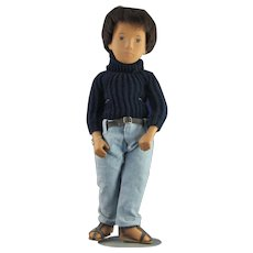 Beautiful Sasha Young Man Doll w/ Black Turtleneck & Jeans