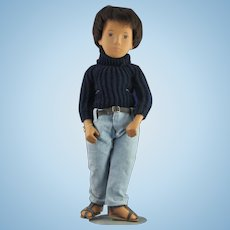 Beautiful Sasha Young Man Doll w/ Black Turtleneck & Jeans