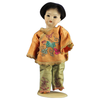 Antique German Simon Halbig Oriental Boy Doll