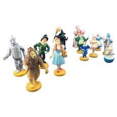 Vintage Wizard of Oz Figures Loews Ren Complete 12 Figure Set * Turner 1987