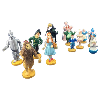 Vintage Wizard of Oz Figures Loews Ren Complete 12 Figure Set * Turner 1987