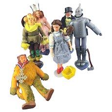 Wizard of OZ Set of 1974 Mego Dolls