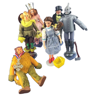 Wizard of OZ Set of 1974 Mego Dolls