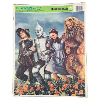Vintage 1988 Wizard Of Oz Frame-Tray Puzzle