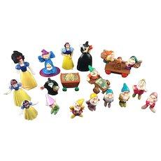 1993 Mattel Walt Disney's Snow White and the Seven Dwarfs Figure Set vtg 1990s