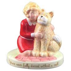 """Little Orphan Annie & Sandy 1982 Annie Movie Applause Ceramic Figurine 6"""" 8925"""