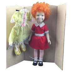 "1982 ANNIE Movie Star 11"" Doll with 2 Outfits and Gold Locket"