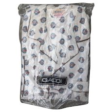 Vintage Dead Stock Patterned Men's Pajamas * LARGE