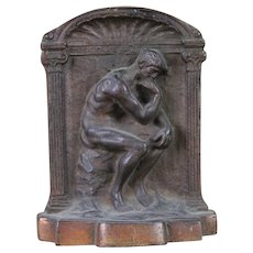 Vintage Auguste Rodin's The Thinker Single Bookend