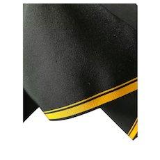 "Victorian Fine Silk Black File Yardage Fragment * 20"" wide x 5+ Yards"