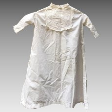 Vintage Baby Ruched Cotton Presentation Dress * Christening Dress