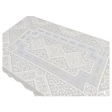 Fine Vintage White lace Bed Cover * Tablecloth