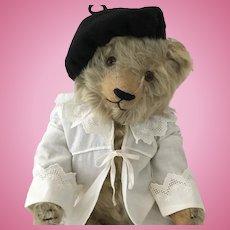"""Jopi or Helvetic Bellows 17"""" Teddy Bear - Circa 1920's"""