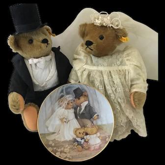 Steiff Bride and Groom Teddy Bears
