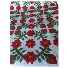 Fabulous Red and white Appliqué Quilt