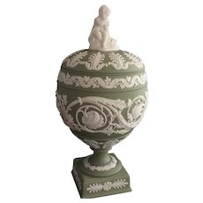 Early 20th Century Impressed Wedgwood Neoclassical Lidded Urn