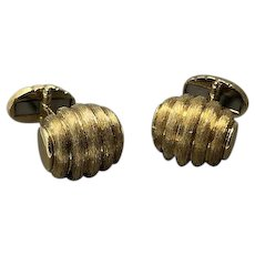 An 18K Yellow Gold Pair of Cufflinks, signed Dunay
