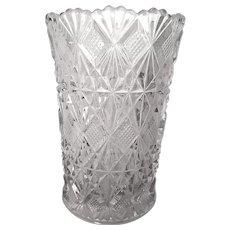 EAPG McKee Glass Teutonic aka Long Star Pattern Celery Vase c 1894