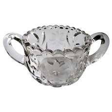 Tiffin Franciscan Cut #83 Crystal Open Sugar Bowl