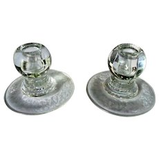 Set of 2 Viking Princess Pattern Candle Holders Etched