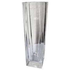 "Cris D'Arques Durand Crystal Beaubourg Pattern 12"" Flower Vase"