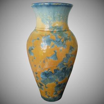 "Glades Pottery Crystalline Glaze Walter Kingsley Vase 10 1/2"" Tall"