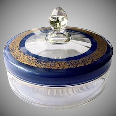 Golden Crusted Covered Candy Dish c 1920's