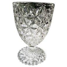 Imperial Glass Diamond Block EAPG Clear Spooner Vase Celery Bowl