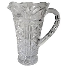 "Elegant Full Clear Crystal 1 Quart 9"" Tall Bar Pitcher"