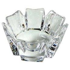 "Orrefors Hand Made 4"" Crystal Bowl Signed"