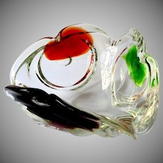Art Glass Multi-Color Hand Made Designer Bowl