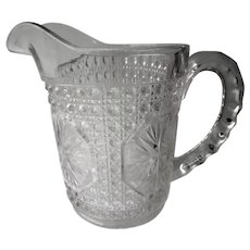 Imperial Glass Amelia Pattern Small Milk Pitcher c 1918