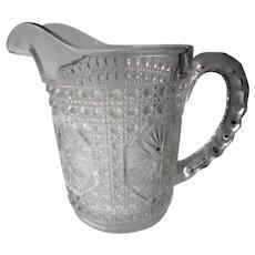 Imperial Glass Amelia Pattern Small Milk Pitcher c 1918