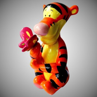 Disney Vintage Tigger With Butterfly Bank Money Box