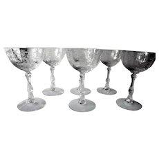 Set of 6 Vintage Lenox Navarre Champagne Glasses c 1982