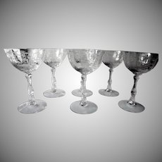 Set of 6 Vintage Lenox Navarre Champagne Glasses c 1982