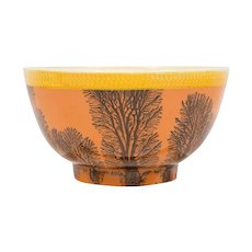 Creamware Mochaware Bowl Decorated with Trees