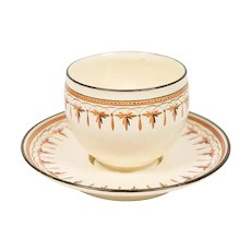 18th Century Wedgwood Creamware Cup and Saucer