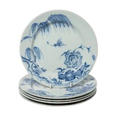 Antique Blue and White Delft Plates a Set of Five