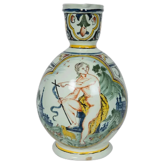John the Baptist Depicted on a French Faience Pitcher