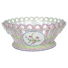 Three Niderviller Antique Porcelain Open-Work Baskets