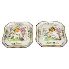 Pair of Chinoiserie Covered Dishes by Copeland Spode