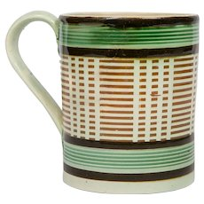 A Mochaware Mug with a Geometric Pattern, England circa 1815