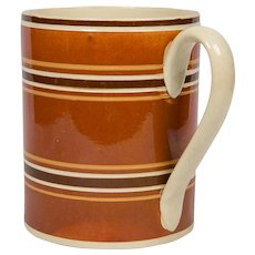 Quart Size Mochaware Mug Made in England circa 1810