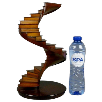 Architectural Wooden Model Spiral Stairs Handmade Maquette