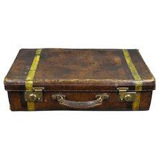 Antique Leather Suitcase, England 1900