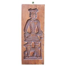 Antique Double Sided Gingerbread or Springerle Cookie Mold, Dutch or German Folk Art