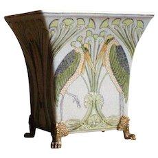 Porcelain Vase with Birds in Art Nouveau style