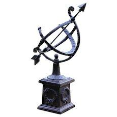 Vintage Small Model Cast Iron Garden Sundial